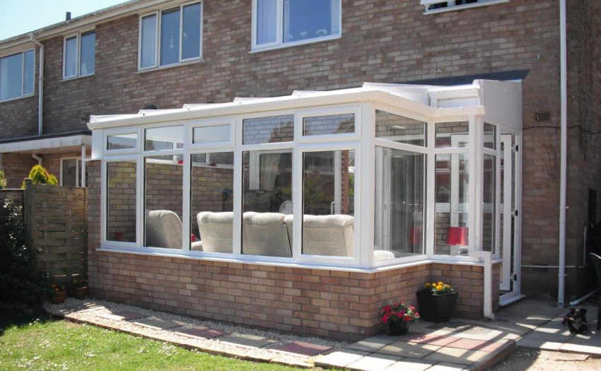 White uPVC Lean To Conservatory by High-Tech Cheltenham