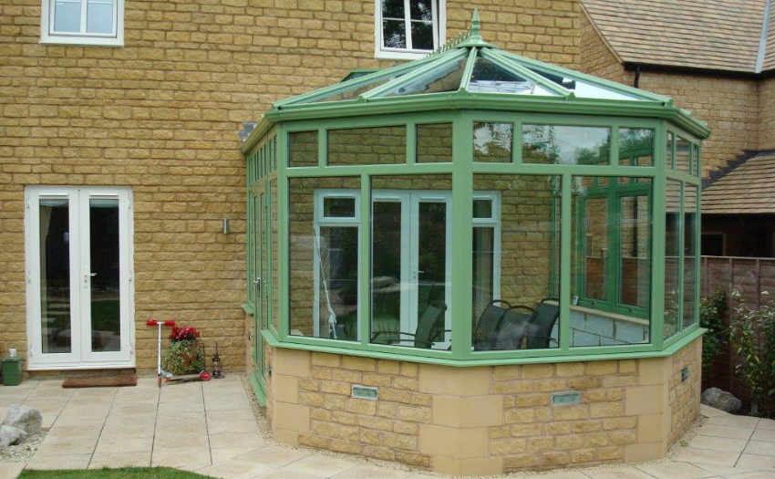 Chart well Green Victorian Conservatory by High-Tech Gloucestershire