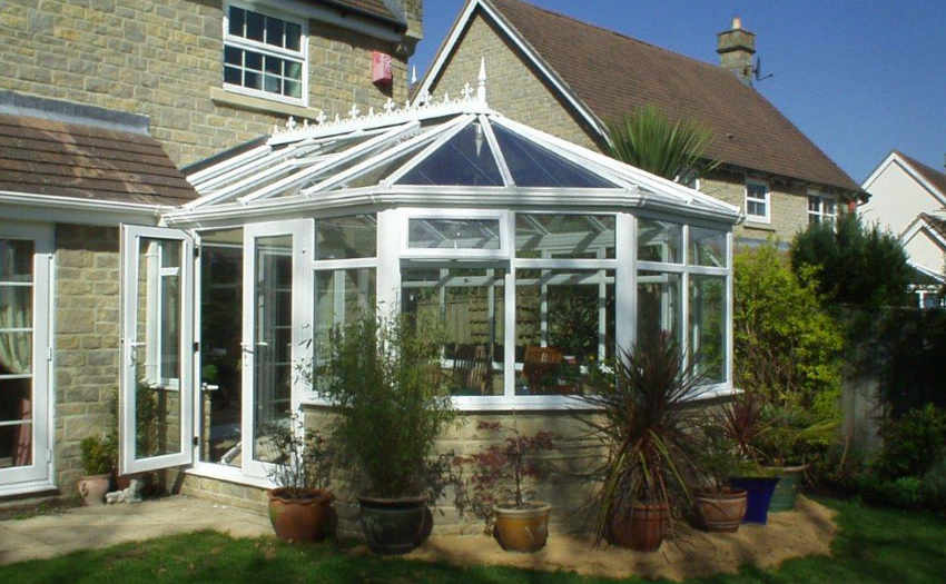 White uPVC Victorian Conservatory by High-Tech Gloucestershire