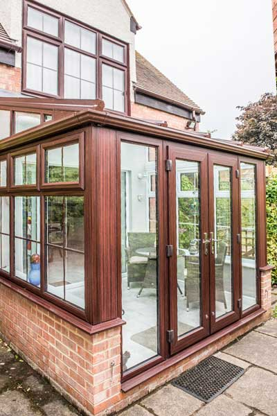 Lean To Conservatory – Rosewood uPVC