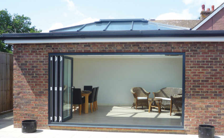 bi folding doors & PVCU and Aluminium Bi-Folding Doors in Gloucestershire | High Tech