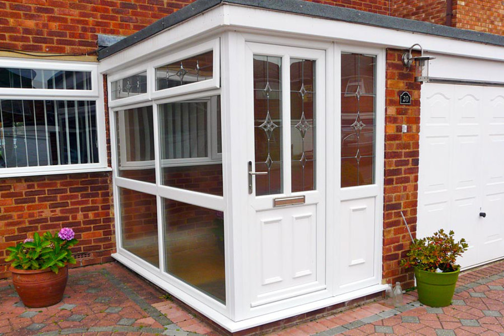 White uPVC porch by High-Tech gloucestershire