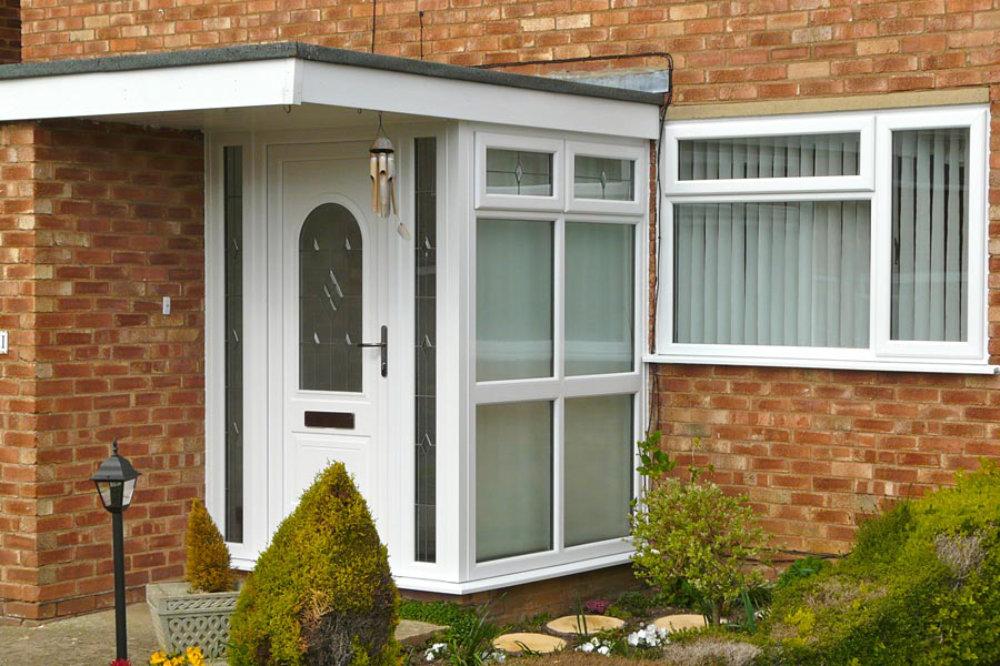 White uPVC Porch by High-Tech Cheltenham