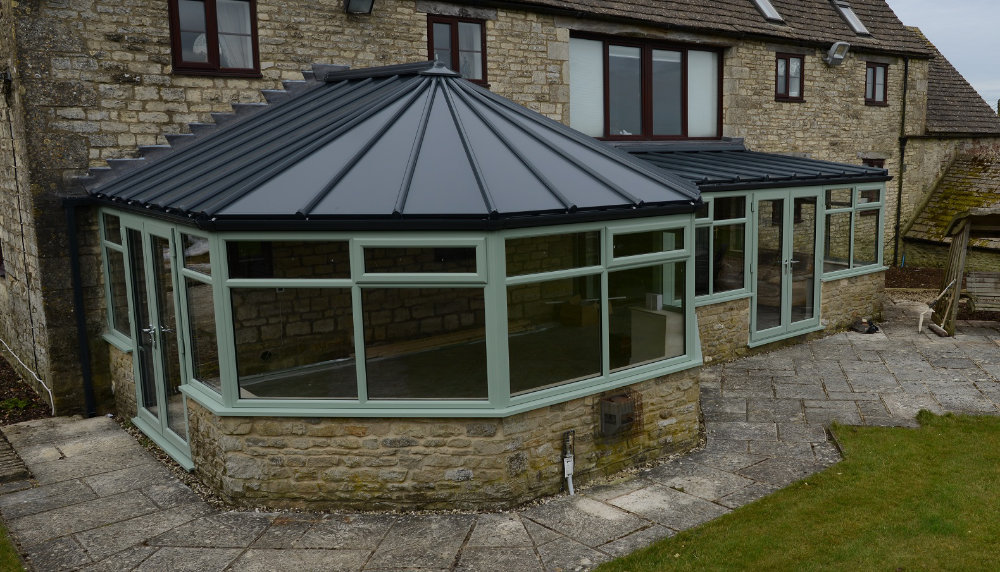 Chartwell Green P Shaped Conservatory by High-Tech Gloucestershire