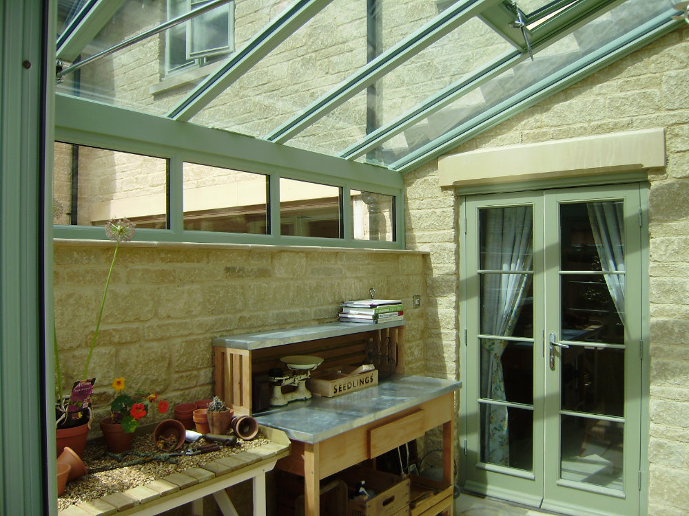 High-Tech Gable Conservatory, Green, Gloucestershire