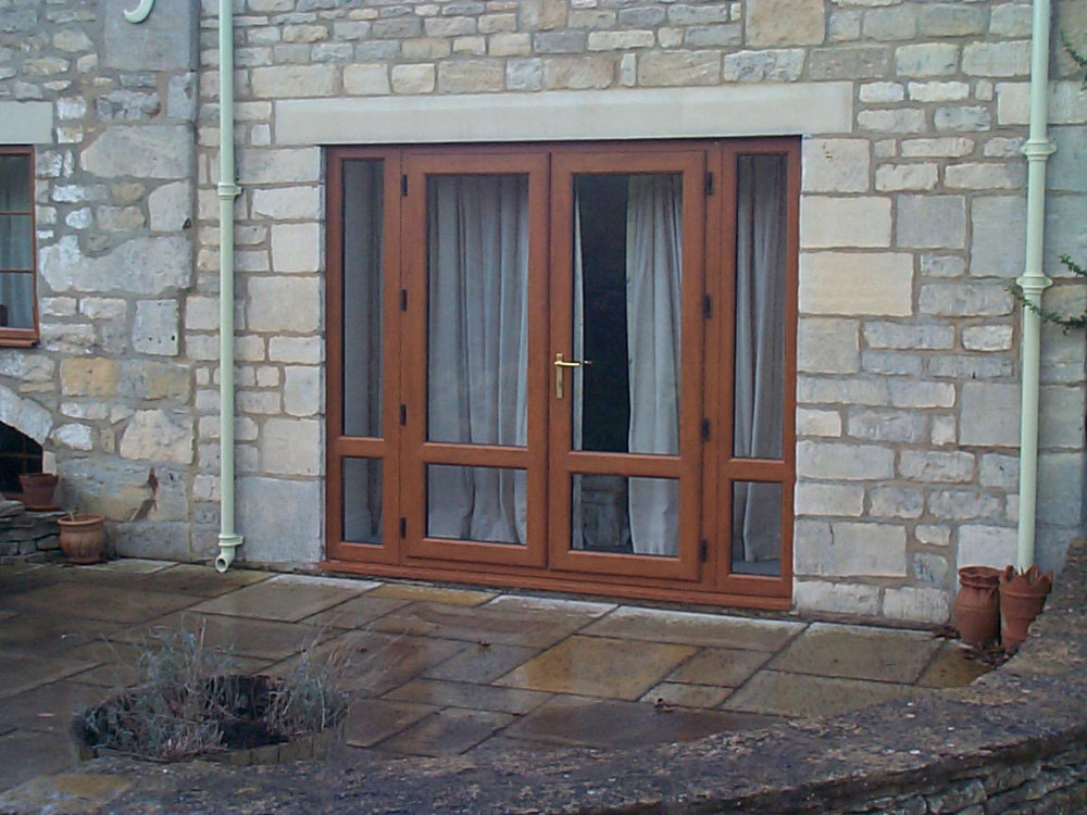 Light Oak French Doors by High-Tech in gloucestershire