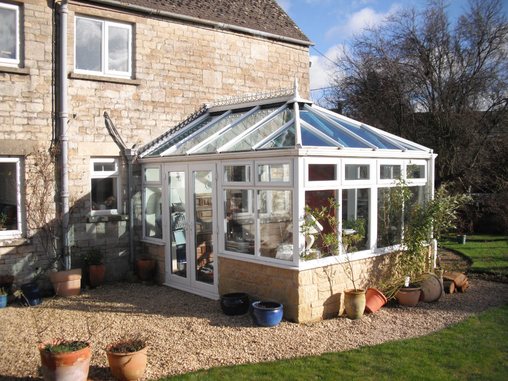 Edwardian Conservatory – White PVCu by High-Tech, Gloucestershire