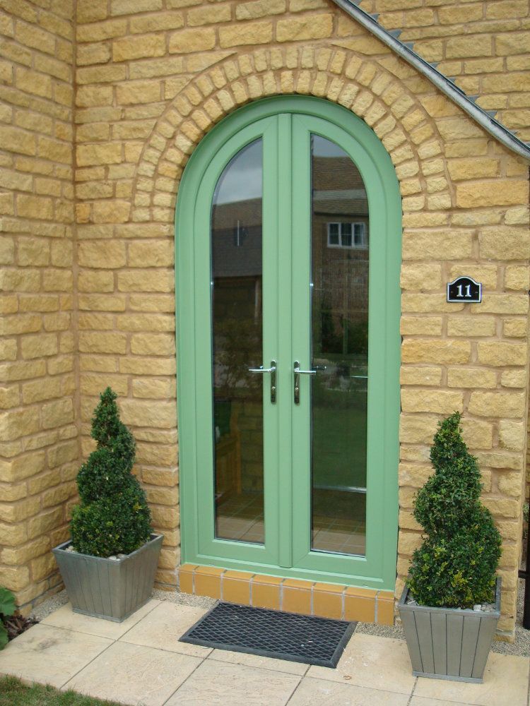 Chartwell Green Arched French Doors by High-Tech Cheltenham