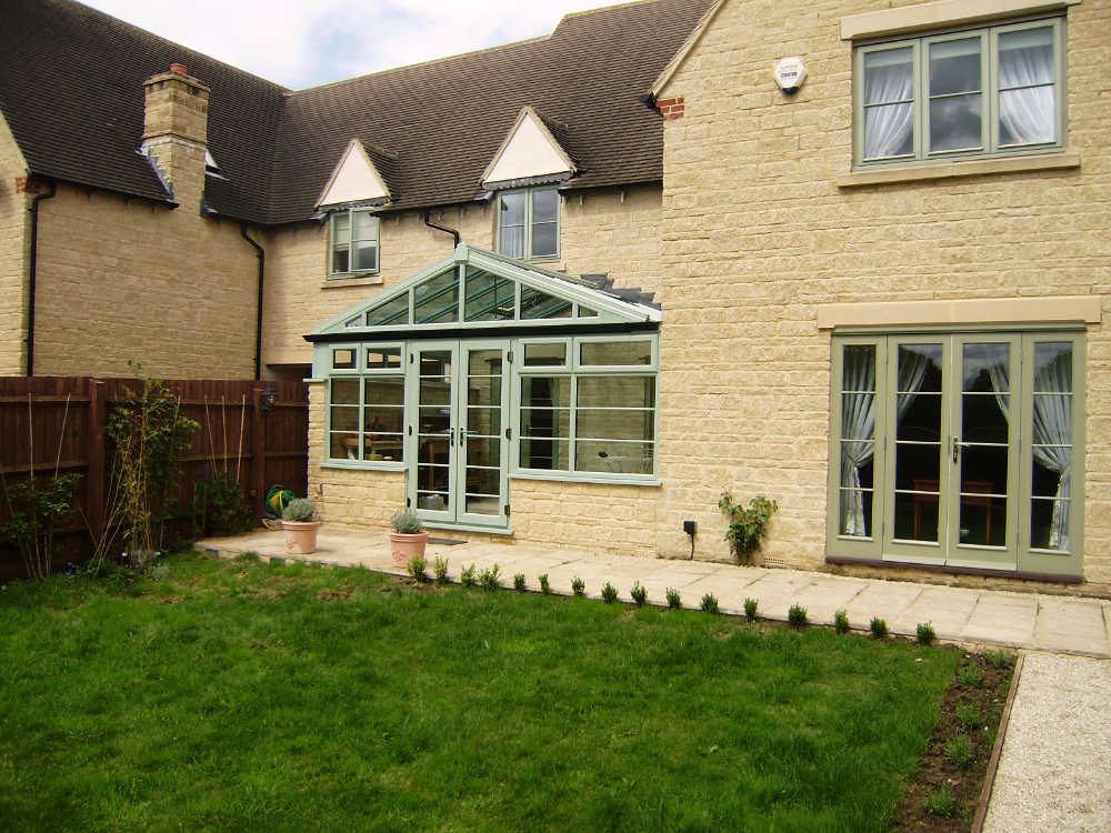 Green gable conservatory in gloucestershire