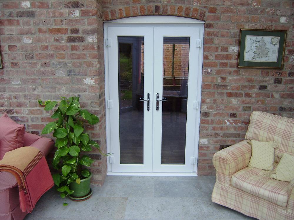White uPVC French Doors by High-Tech Cheltenham