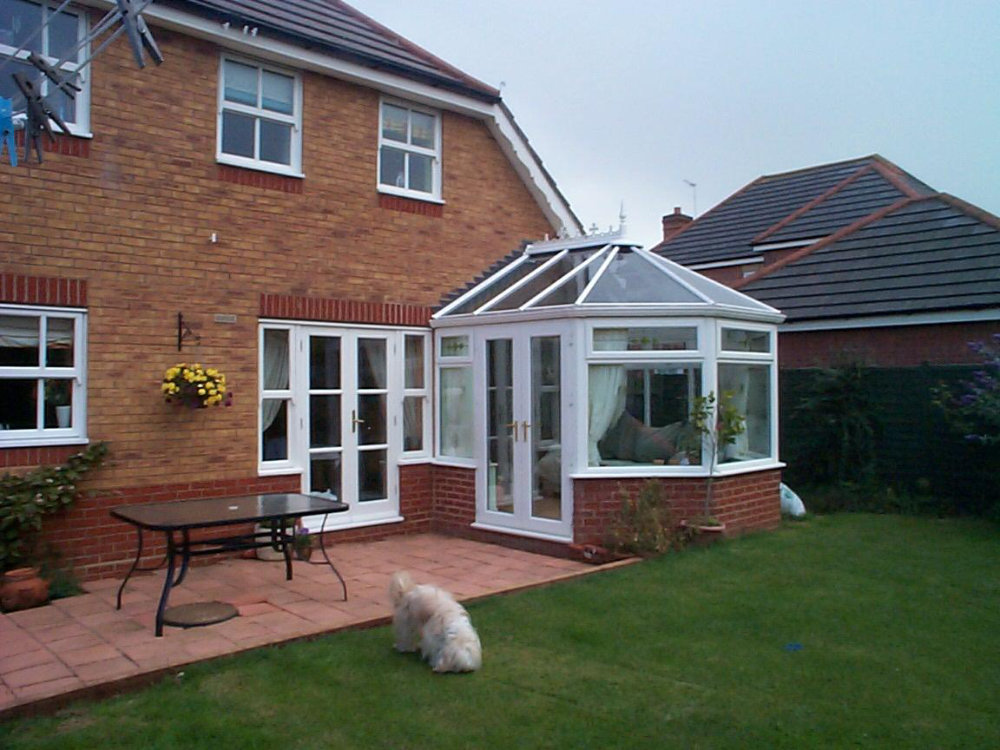 White uPVC Victorian Conservatory by High-Tech Cheltenham