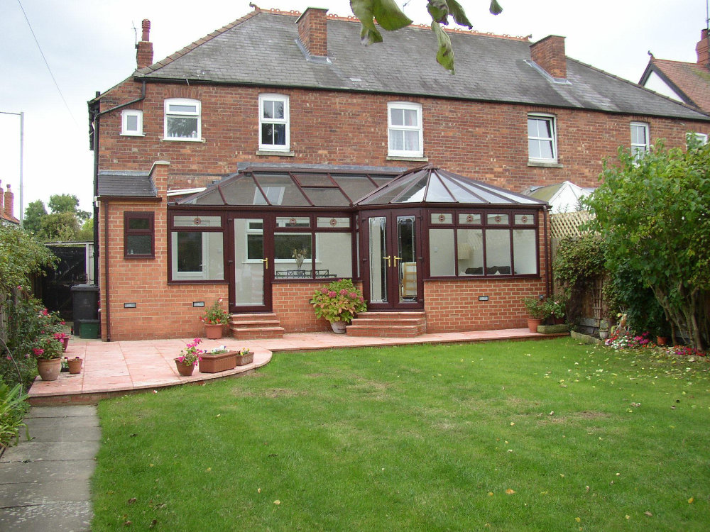 P Shaped Conservatory – Rosewood uPVC by High-Tech Gloucestershire
