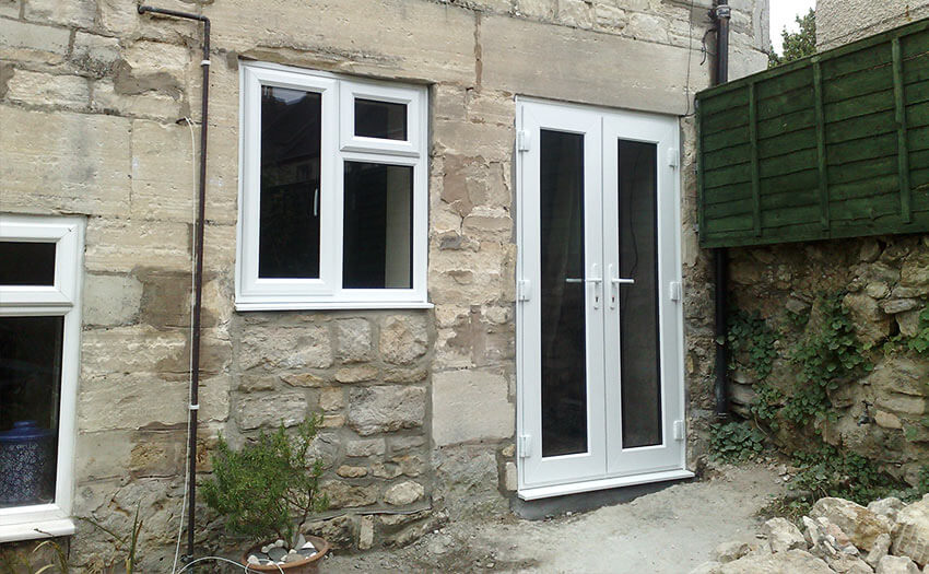 pvcu french doors installation