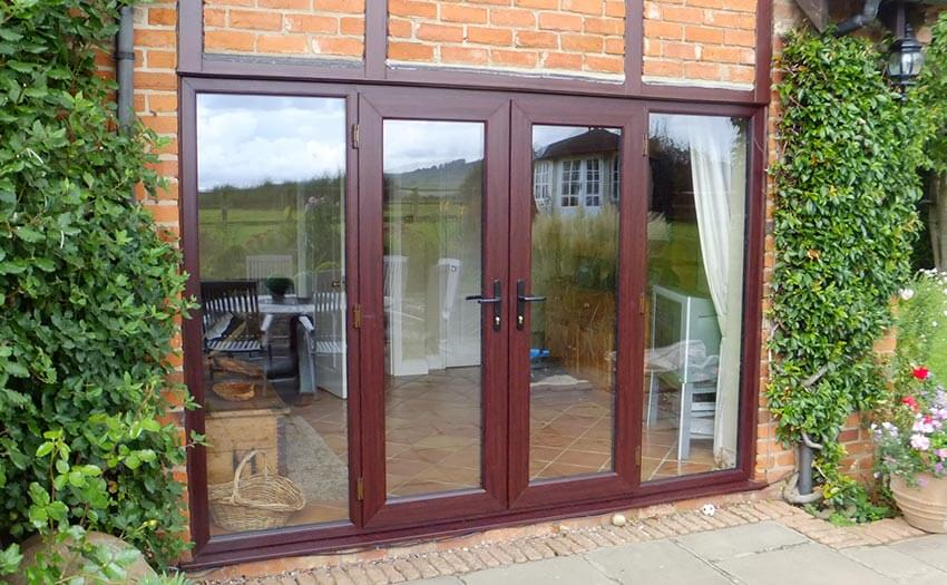pvcu rosewood french doors